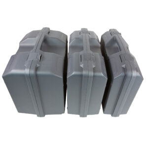 Plastic carry case in 3 sizes, all grey